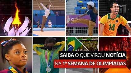 VÍDEO: saiba o que virou notícia na 1ª semana de Olimpíadas