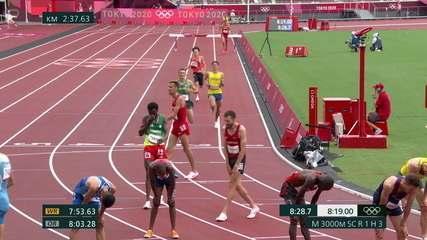 Altobeli da Silva toca em barreira na última volta, fica para trás, termina 9º lugar e não avança para final dos 3000m com obstáculos