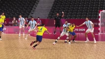 Melhores Momentos: Argentina 23 X 25 Brasil pelo handebol mascunlino