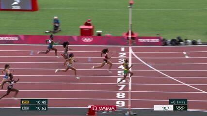 Rosângela Santos fica em quinto em bateria dos 100m rasos