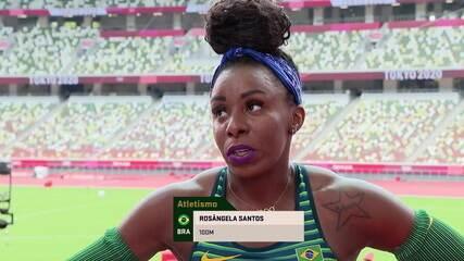 """""""Muito aquém do que eu gostaria"""", diz Rosângela Santos sobre prova dos 100m rasos"""