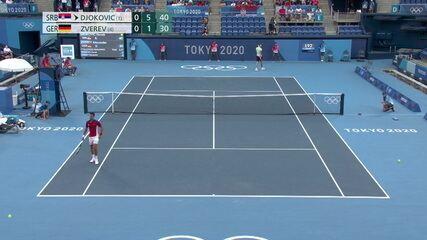 Os pontos decisivos de Djokovic 1 x 2 Zverev pela semifinal do tênis nas Olimpíadas de Tóquio 2020