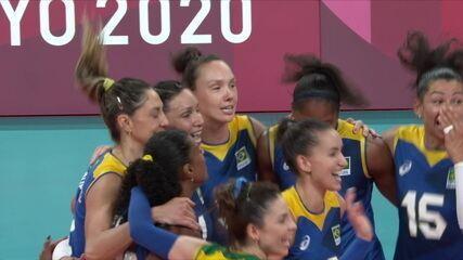 Os pontos decisivos de Sérvia 1 x 3 Brasil no vôlei feminino - Olimpíadas de Tóquio