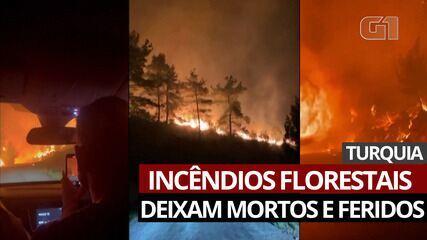 Incêndios florestais deixam mortos e feridos na Turquia