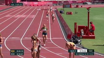 Tatiane Raquel finaliza em sétima posição e atinge o melhor tempo da história de uma brasileira na prova com 9:36.43 - Olimpíadas de Tóquio