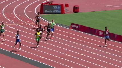 Lucas Carvalho termina na 7ª colocação nos 400m rasos - Olimpíadas de Tóquio