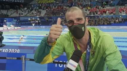 """""""Estou felizão para caramba"""": Bruno Fratus abre o coração com medalha de bronze no peito"""