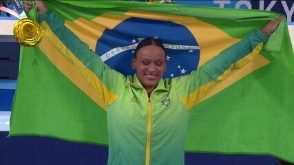 É OURO!! Rebeca Andrade é ouro no salto da ginástica artística