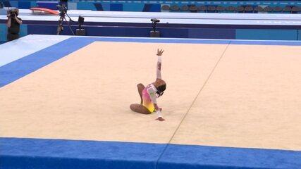 Rebeca Andrade faz um bom solo, mas crava 14.033 e fica com o quinto lugar