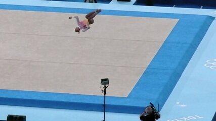 Confira imagens em 360° da apresentação de solo de Rebeca Andrade - Olimpíadas de Tóquio