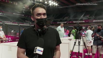 DJ Michael Staribacher faz sucesso nas redes sociais com os hits que toca nas quadras - Olimpíadas de Tóquio