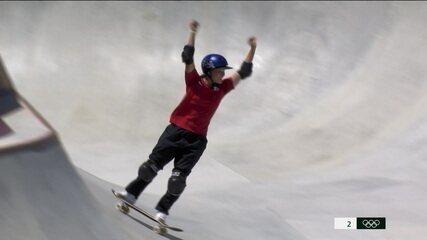 Veja as voltas da campeã Sakura Yosozumi na final do skate park - Olimpíadas de Tóquio