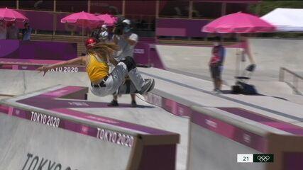 Veja as voltas de Dora Varella na final do skate park - Olimpíadas de Tóquio