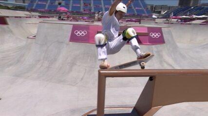 Luiz Francisco faz 80.24 na primeira volta da final do skate park - Olimpíadas de Tóquio