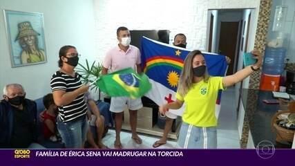Família de Érica Sena vai madrugar na torcida por medalha nas Olimpíadas de Tóquio