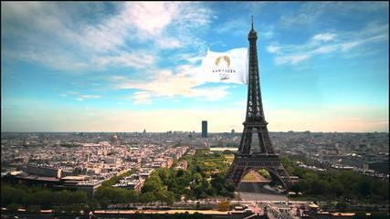 Ao som da Marselhesa, França apresenta clipe para 2024 e atletas fazem festa em Paris