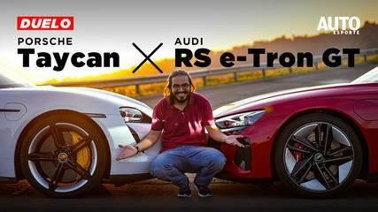 Comparativo: Audi RS e-tron GT é páreo para o Porsche Taycan Turbo S?
