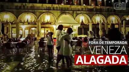 VÍDEO: Veneza registra inundação fora da temporada