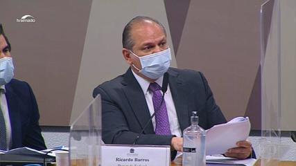 Ricardo Barros faz ataques à CPI, revolta senadores e depoimento é suspenso