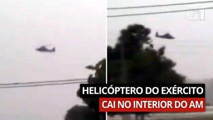 Vídeo mostra momento em que helicóptero cai no interior do AM
