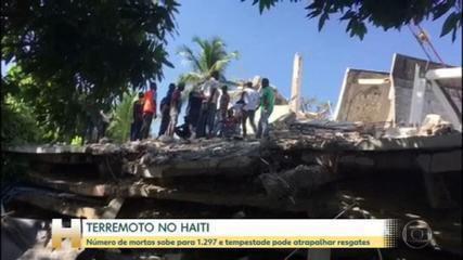 Número de mortos em terremoto no Haiti passa de 1,2 mil