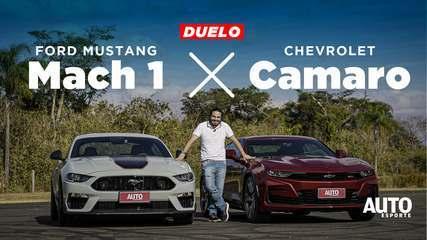Duelo: Ford Mustang Mach 1 encara Chevrolet Camaro na última disputa de esportivos V8
