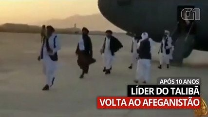 Video: Taliban leader Abdul Ghani Bhardwar alights from a plane after arriving in Afghanistan
