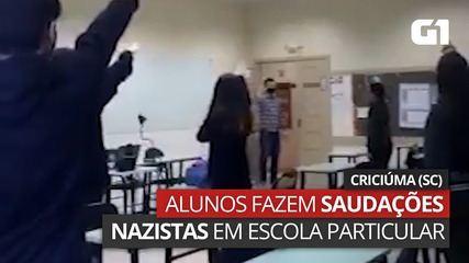 Vídeo mostra alunos de escola particular de Criciúma fazendo saudações nazistas