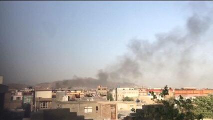 VÍDEO: Imagens mostram fumaça sobre Cabul após nova explosão