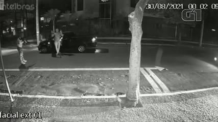 Câmera de segurança flagrou abordagem a personal trainer vítima de ataque em Araçatuba