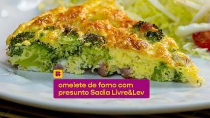 Omelete de forno com presunto Sadia Livre&Lev: veja a receita