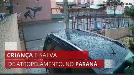 Criança é salva de atropelamento, no Paraná