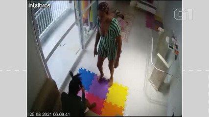 VÍDEO: Câmera de segurança mostra agressões contra babá que pulou de prédio em Salvador