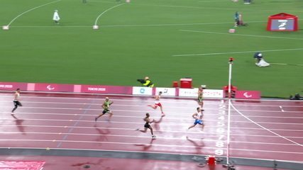 Ricardo Gómez de Mendonca terminó segundo en la segunda ronda de los 200m T37, mientras que Christian Gabriel terminó quinto - Juegos Paralímpicos Tokio