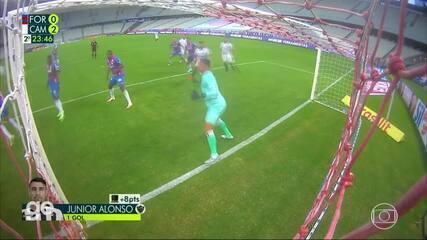 Os gols de Fortaleza 0 x 2 Atlético-MG, pela 20º rodada do Campeonato Brasileiro