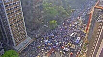 Manifestação contra Bolsonaro em SP lembra atuação do governo na pandemia