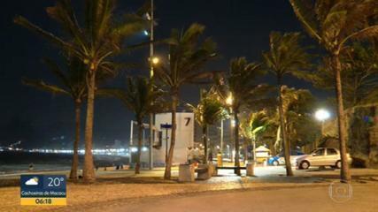 Ventos passaram dos 70 km/h em Copacabana, na noite de terça-feira