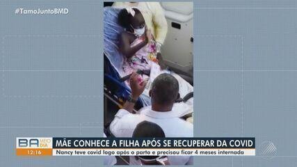 Mãe sai de hospital para conhecer filha de cinco meses após se recuperar da Covid-19;