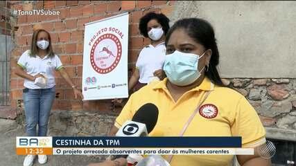 Iniciativa arrecada absorventes para doar para mulheres carentes em Serrinha, na BA