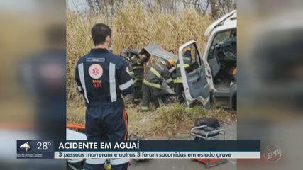 Acidente na Rodovia SP-225 deixa 3 mortos e 3 feridos em Aguaí
