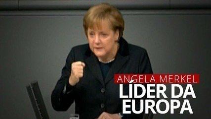 Angela Merkel: líder da Europa