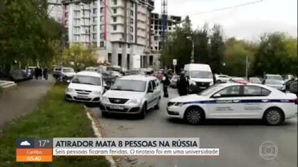 Atirador deixa mortos e feridos em universidade na Rússia