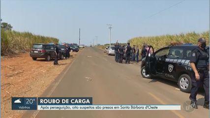 Perseguição acaba em prisão de oito suspeitos por roubo de carga em Santa Bárbara d'Oeste