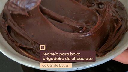Recheios para bolo: brigadeiro de chocolate