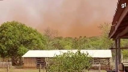 Sidrolândia e Nova Alvorada do Sul, em MS, também registram temporais de areia