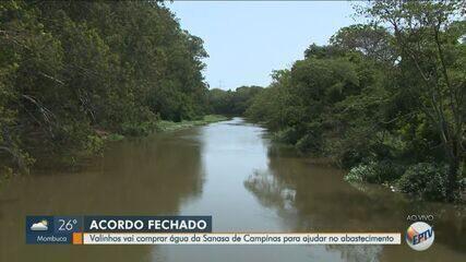 Valinhos firma acordo para comprar água de Campinas em meio à crise hídrica