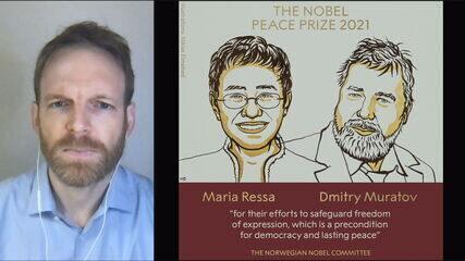 Jornalistas Maria Ressa e Dmitry Muratov vencem o Prêmio Nobel da Paz por esforços pela liberdade de expressão