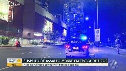 Suspeito de assalto morre durante troca de tiros com a polícia em Salvador