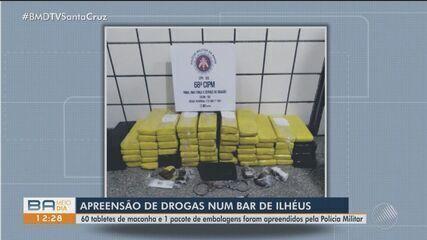 Polícia Militar apreende grande quantidade de drogas em bar de Ilhéus