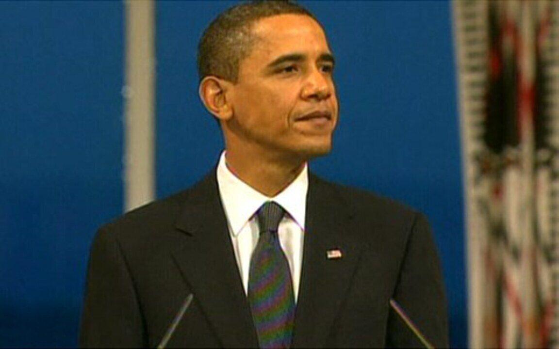 Barack Obama discursa após receber o Prêmio Nobel da Paz